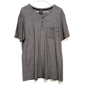 NWOT Zoo York Grey Button Down T-Shirt Size XLarge